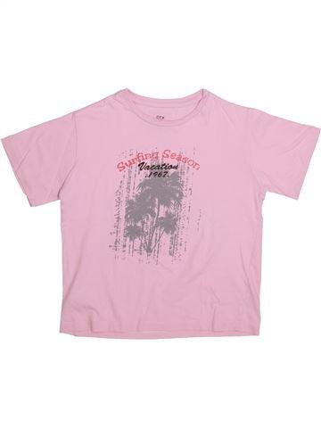 T-shirt manches courtes garçon CFK rose 8 ans été #1335464_1