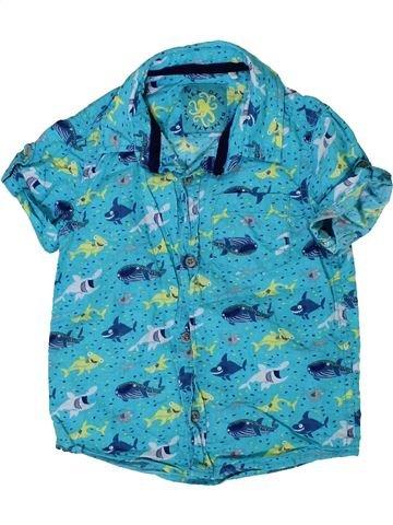Chemise manches courtes garçon TU bleu 2 ans été #1335477_1