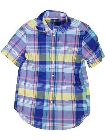 Chemise manches courtes garçon RALPH LAUREN bleu 12 ans été #1335829_1