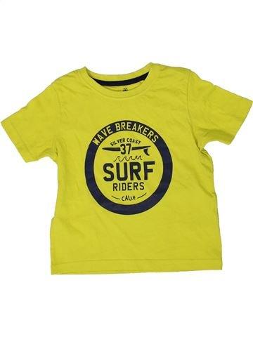T-shirt manches courtes garçon LUPILU vert 4 ans été #1335891_1