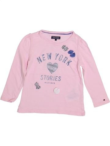 T-shirt manches longues fille TOMMY HILFIGER rose 4 ans hiver #1336062_1