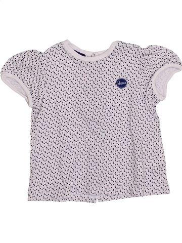 T-shirt manches courtes fille CHICCO blanc 3 mois été #1336237_1