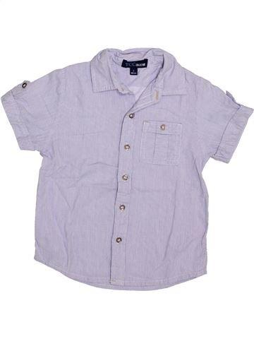 Chemise manches courtes garçon YCC-214 violet 4 ans été #1336386_1