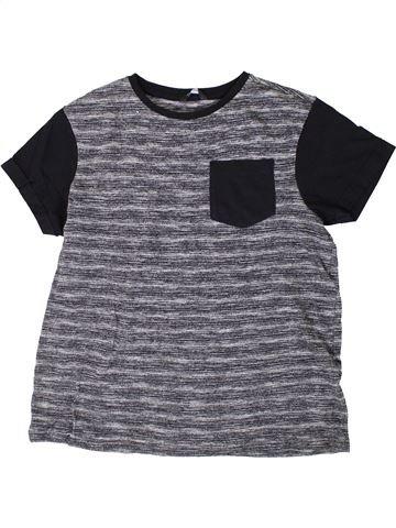 T-shirt manches courtes garçon GEORGE gris 13 ans été #1336460_1