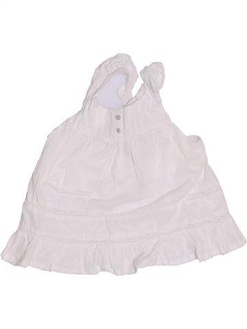 Blusa de manga corta niña VERTBAUDET blanco 2 años verano #1336879_1