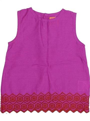 Blusa de manga corta niña MONOPRIX violeta 3 años verano #1339236_1