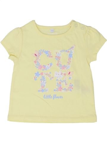 T-shirt manches courtes fille DEBENHAMS beige 6 mois été #1339892_1