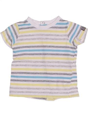 T-shirt manches courtes garçon 3 POMMES blanc 3 mois été #1340254_1
