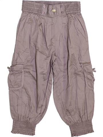 Pantalón corto niña CYRILLUS gris 8 años verano #1340331_1