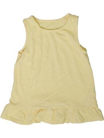 Camiseta sin mangas niña GEORGE beige 6 años verano #1340478_1