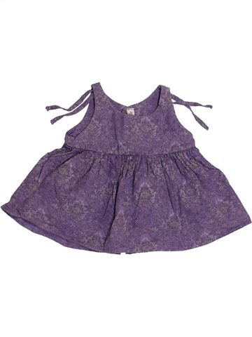 Blusa de manga corta niña BERLINGOT violeta 12 meses verano #1341235_1