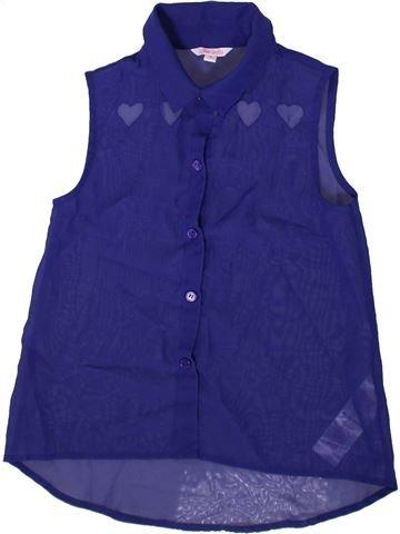 Blouse manches courtes fille MISS E-VIE violet 10 ans été #1341455_1