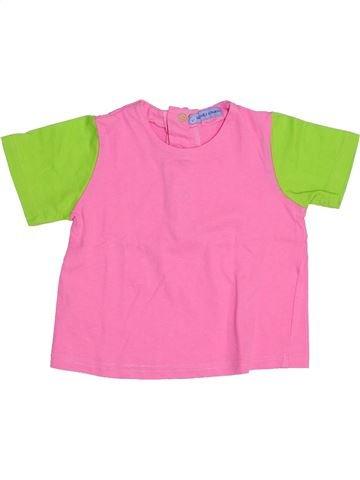 T-shirt manches courtes fille AGATHA RUIZ DE LA PRADA rose 18 mois été #1341972_1
