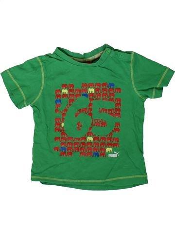 T-shirt manches courtes garçon PUMA vert 12 mois été #1342138_1