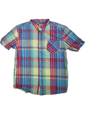 Chemise manches courtes garçon BEN SHERMAN bleu 14 ans été #1343087_1