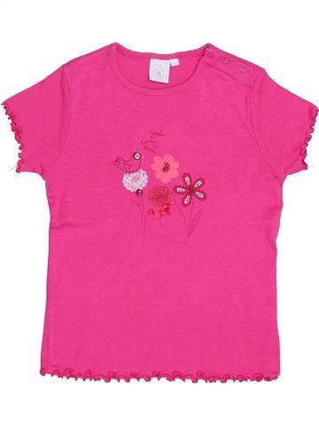 T-shirt manches courtes fille CADET ROUSSELLE rose 5 ans été #1343655_1