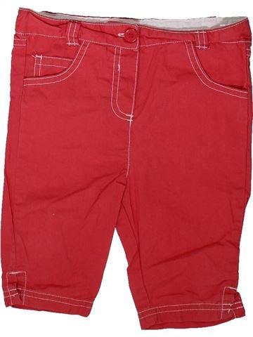 Pantalón corto niña CHEROKEE rojo 18 meses verano #1343656_1