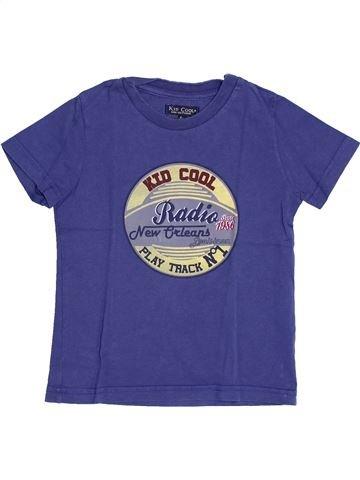 T-shirt manches courtes garçon KID COOL bleu 4 ans été #1343992_1