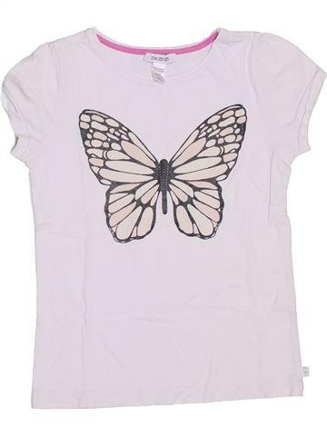 T-shirt manches courtes fille OKAIDI blanc 8 ans été #1344742_1