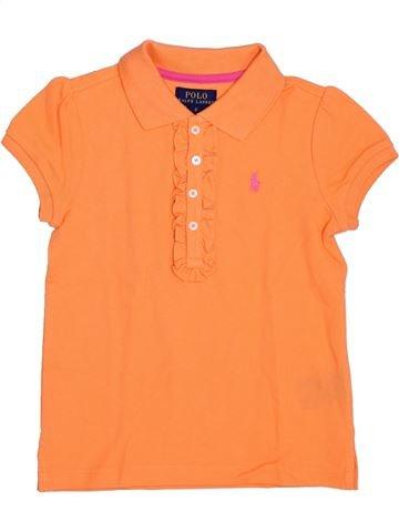 Polo manches courtes fille RALPH LAUREN orange 6 ans été #1344748_1