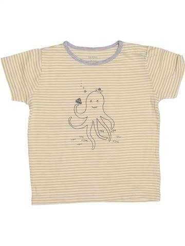 T-shirt manches courtes garçon BOUT'CHOU beige 2 ans été #1344806_1