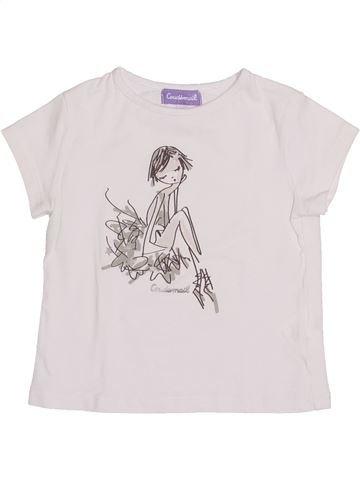 T-shirt manches courtes fille COUDÉMAIL blanc 2 ans été #1345424_1