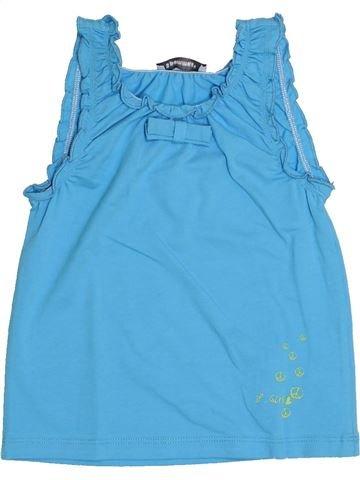 T-shirt sans manches fille 3 POMMES bleu 3 ans été #1345463_1