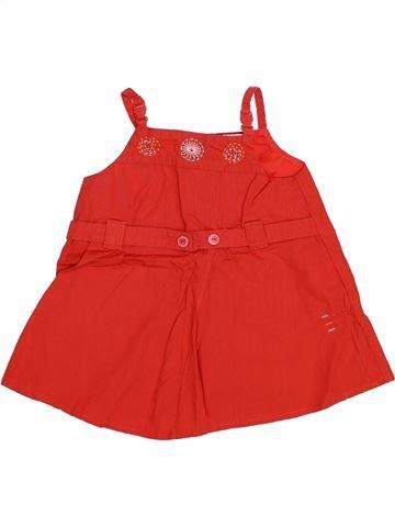 Robe fille AUBISOU rouge 6 mois été #1345724_1