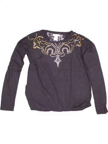 T-shirt manches longues fille LA REDOUTE CRÉATION gris 14 ans hiver #1345818_1