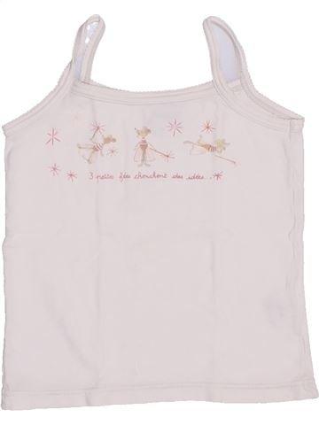T-shirt sans manches fille JACADI blanc 4 ans été #1345990_1