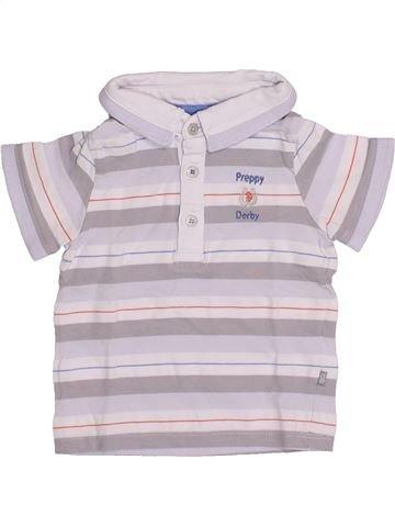Polo manches courtes garçon OKAIDI blanc 12 mois été #1346387_1
