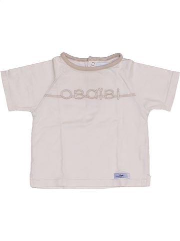 T-shirt manches courtes garçon OKAIDI blanc 6 mois été #1346390_1