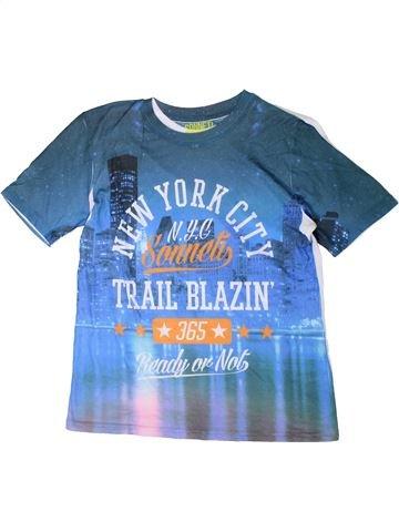 T-shirt manches courtes garçon SONNETI bleu 13 ans été #1346413_1
