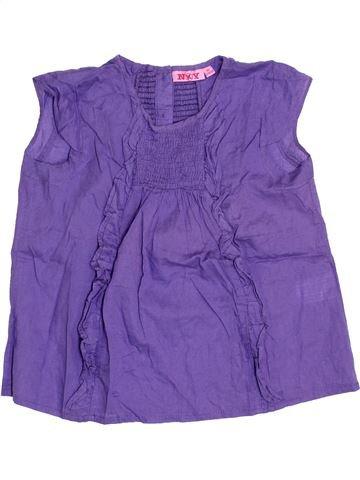 Blouse manches courtes fille KIABI violet 8 ans été #1346579_1