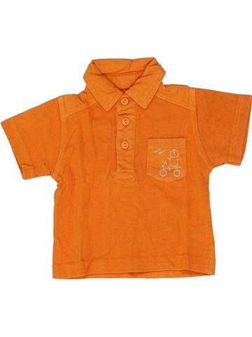 Polo manches courtes garçon TOUT COMPTE FAIT orange 3 mois été #1346727_1