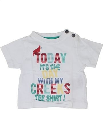 T-shirt manches courtes garçon CREEKS blanc 3 mois été #1346729_1