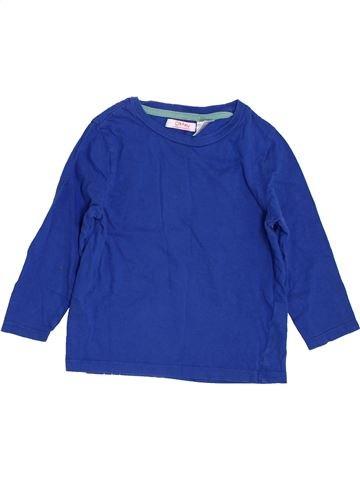 T-shirt manches longues garçon LA REDOUTE CRÉATION bleu 3 ans hiver #1346769_1