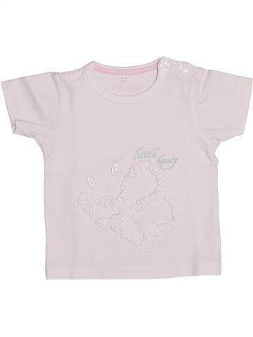T-shirt manches courtes fille NAME IT blanc 1 mois été #1347049_1