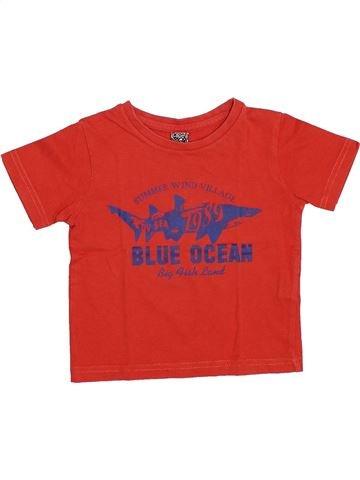 T-shirt manches courtes garçon TAPE À L'OEIL rouge 2 ans été #1347346_1