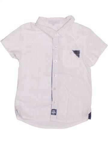 Chemise manches courtes garçon CADET ROUSSELLE blanc 5 ans été #1347622_1