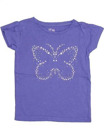 Camiseta de manga corta niña GEMO violeta 4 años verano #1347758_1