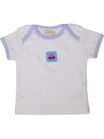 T-shirt manches courtes garçon BAMBINI blanc naissance été #1347892_1