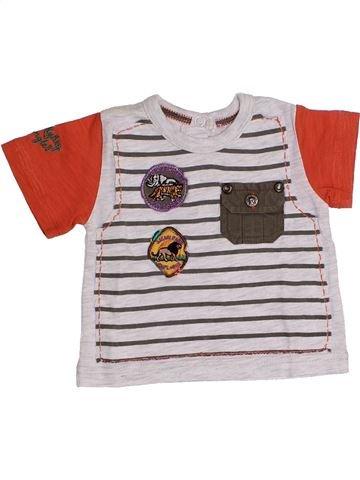 T-shirt manches courtes garçon CHICCO blanc 3 mois été #1348765_1