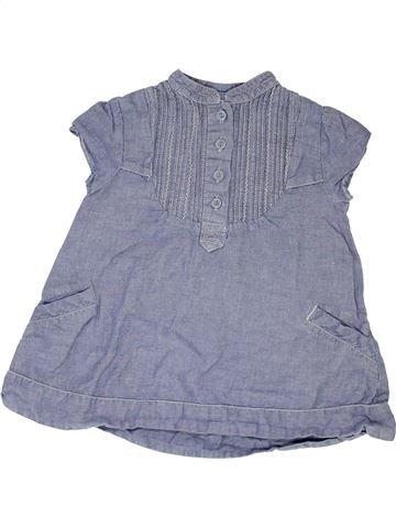 Robe fille THE LITTLE WHITE COMPANY gris 2 ans été #1348917_1