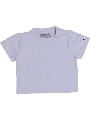 T-shirt manches courtes garçon BOBOLI gris 6 mois été #1349055_1