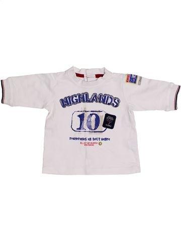 T-shirt manches courtes garçon SERGENT MAJOR blanc 3 mois été #1349151_1