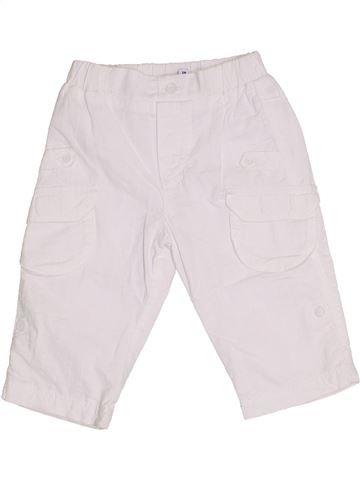 Pantalon garçon P'TIT BISOU blanc 6 mois été #1349322_1