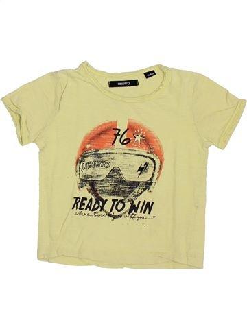 T-shirt manches courtes garçon LIBERTO beige 3 ans été #1349880_1