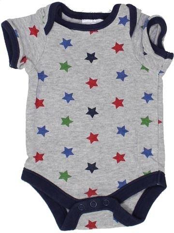 T-shirt manches courtes garçon PEACOCK'S gris naissance été #1350021_1