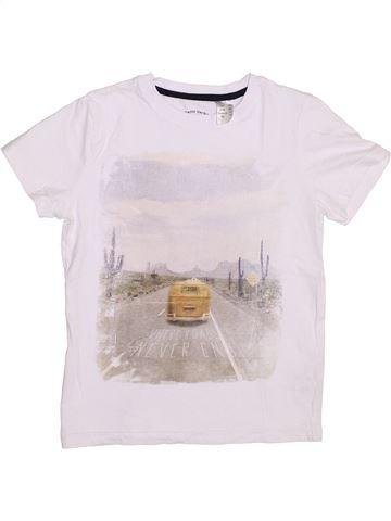 T-shirt manches courtes garçon LA REDOUTE CRÉATION blanc 10 ans été #1350325_1